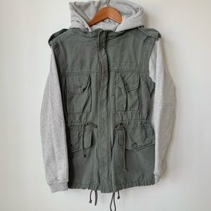 ARITZIA | WILFRED FREE ARMY ANORAK JACKET/SWEATER